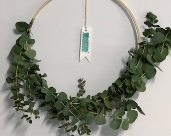 Baby Blue Eucalyptus Wreath