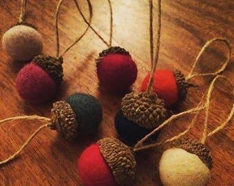 Wool & Acorn Baubles