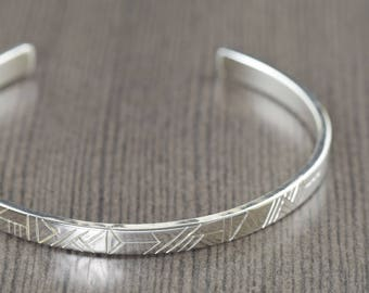 Cuff Bracelet Mens bracelet fathers day jewelry Geometric mens cuff bracelet mens gift mens jewelry metal jewelry gifts for him