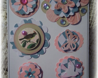 Layered Cardstock Embellishment for Scrapbook,Journal,Handmade Card,Handmade Tag