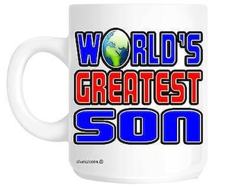Worlds greatest son novelty gift mug