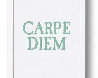 Carpe Diem, Motivational Poster, Motivational Print, Nursery Art, Typography Print, Typography Art, Scandinavian Art, Affiche Scandinave