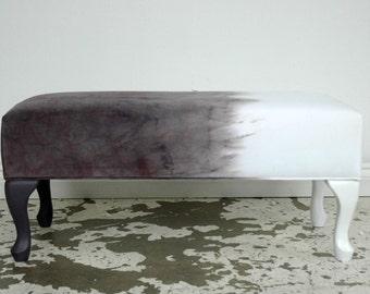 Mauve Velvet  DipDye Ottoman bench