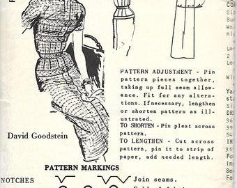 1950's Spadea 1300 David Goodstein Slim Dress Pattern, Size 10, Bust 34