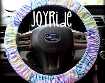 Steering Wheel Cover Lilly Pulitzer Blue Oh Shello Fabric Fully lined with Grip Tight Designer Car Accessories Coral For Girls Woman