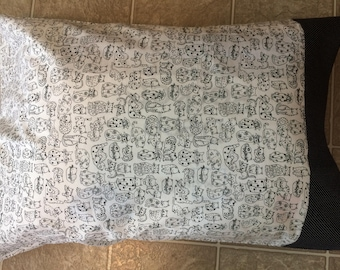 Cat print pillowcase