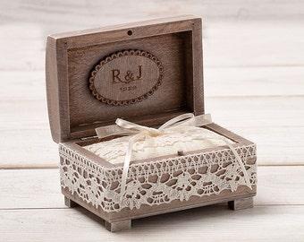 Rustic Wedding Ring Box Ring Bearer Box Wedding Ring Box Ring Holder Custom Ring Box Personalized Wedding Box