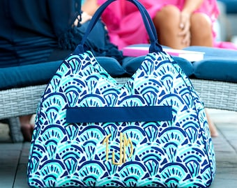 Personalized Make Waves Beach Bag, Monogrammed, Tote Bag, Diaper Bag, Gym Bag, Personalized Gift
