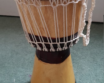 Beautiful african djembe drum from west africa