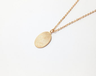 Fingerprint Necklace • Fingerprint Jewelry • Bereavement Jewelry • Unique Sympathy Gift in Sterling Silver CFN01