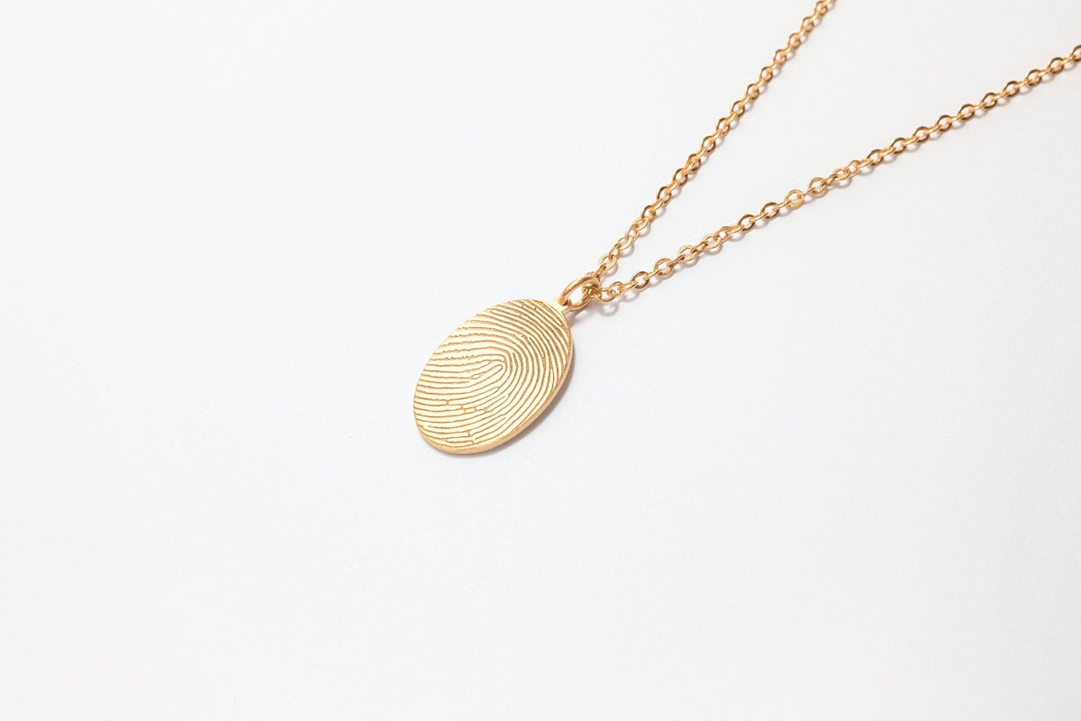 necklace original fingerprintjewellery inked ingot product jewellery by fingerprint