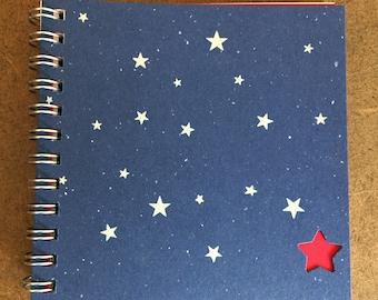Small spiral-bound star journals