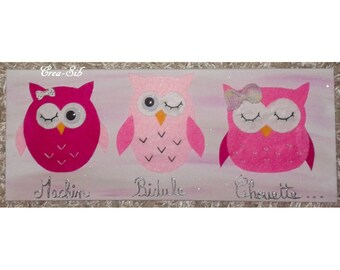 """Pink table """"Machin thingy OWL"""""""
