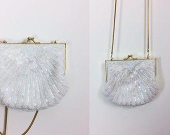 vintage embellished bag/ beaded bag/ crossbody bag/ shoulder bag