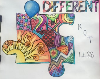 Autism adult coloring page