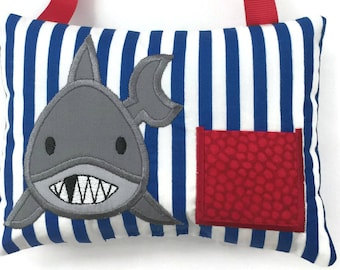 Shark Tooth Fairy Pillow - Tooth Fairy Pillow Boys - Tooth Fairy Gift - Lost Tooth - Birthday Gift