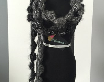 Puffed Crochet Scarf #adornments