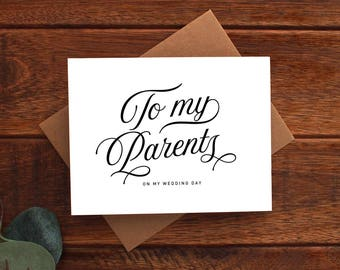 To My Parents on My Wedding Day Card