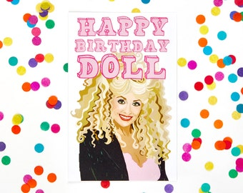 Dolly Parton Card, Funny Birthday Card (Card for Mother, Card for Mom, Mum Card, 30th, 40th, 50th, 60th Funny Birthday Card) (100% Recycled)
