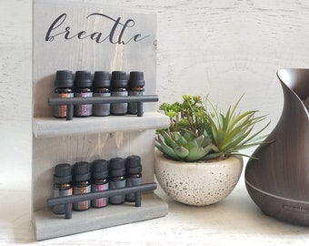 Essential Oil Storage Shelf || Essential Oil Display, Wall Shelf, Aromatherapy Storage, Office Accessories, Essential Oil Rack