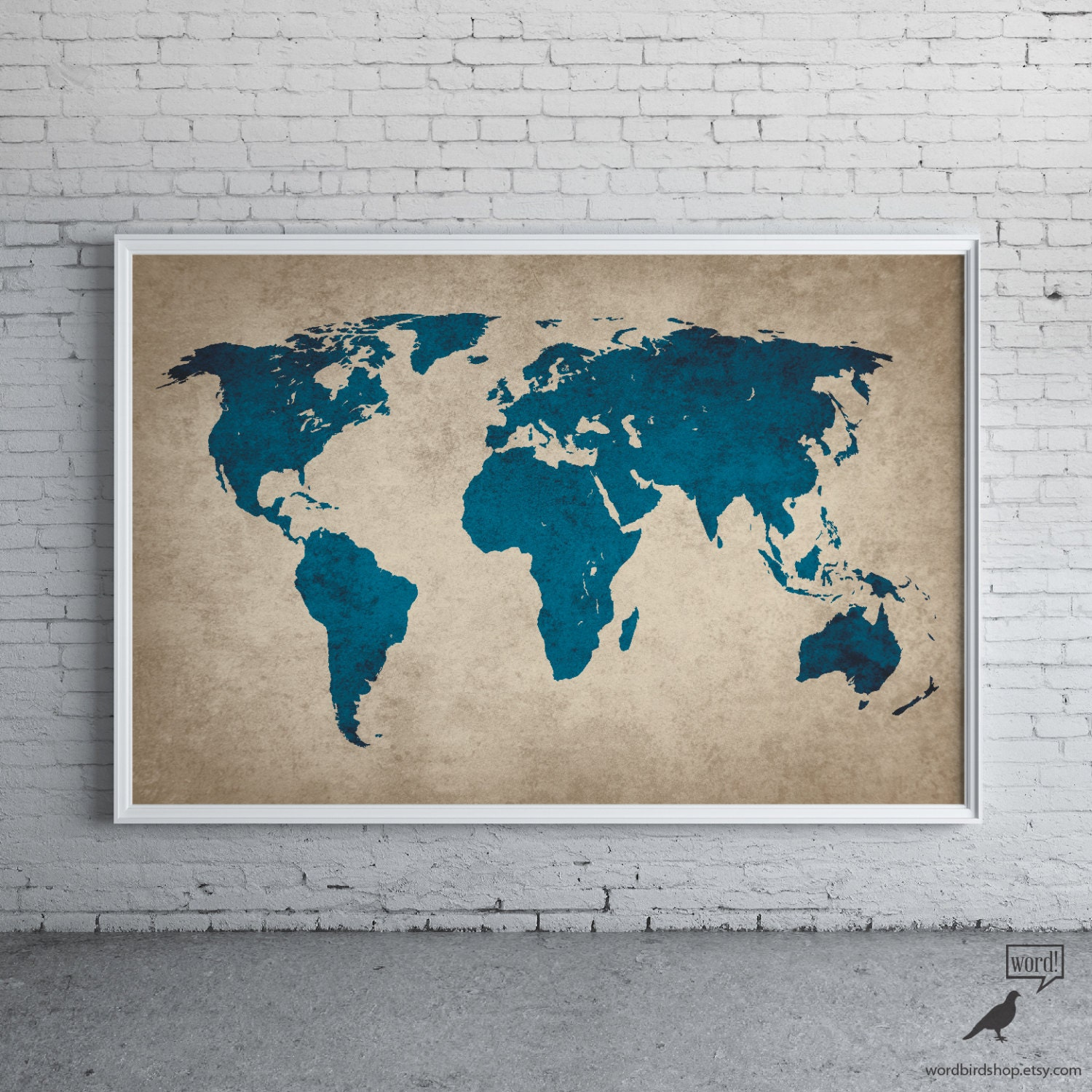 Rustic navy blue world map old world map large world map zoom gumiabroncs Choice Image