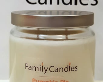 Family Candles - Pumpkin Pie 16 oz Double Wicked Soy Candle