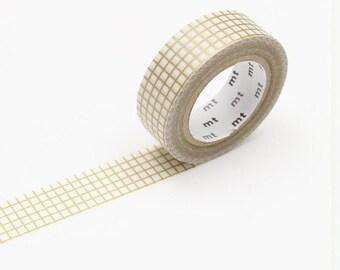 Gold Check Washi Tape • MT Masking Tape Washi Tape • Washi Tape UK • Japanese stationery • Hougan Gold