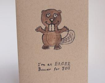 Greeting Card - Eager Beaver