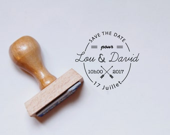 Vintage Save The Date rubber stamp - custom wedding rubber stamp - custom stamp -  custom rubber stamp - vintage rubber stamp -  custom gift