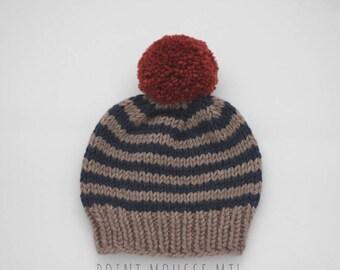 Baby knit hat, knitted baby beanie, knitted baby toque, baby boy gift, baby girl gift, merino wool baby beanie, newborn gift, baby shower