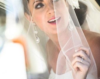 Soft Drop Wedding Veil Fingertip, Bridal Veil DV30/45CE