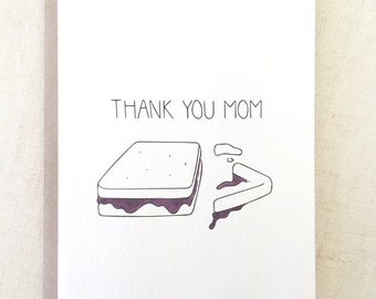 Mother's Day Card, Mothers Day, Mother's Day Gift, Mom Card, Thank you mom PEANUT BUTTER CARD - Gift for Mom, Wholesale Card, Mom Birthday