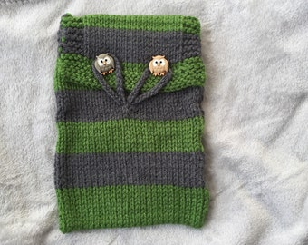 Knit Slytherin Case for eReader