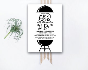 INSTANT DOWNLOAD wedding shower invitation / I Do BBQ invite / I do bbq shower / couples shower / engagement party / backyard bbq invite
