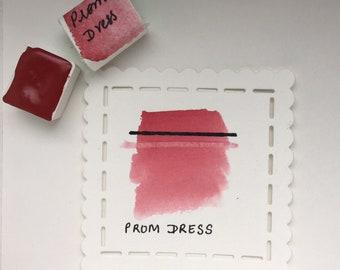 Prom Dress (Napthol Carmine)- Handmade Watercolor