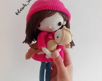 EMILIA hand-Woven Amigurumi Doll