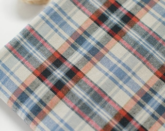 Pre-washed Plaid Cotton Fabric - By the Yard 51522