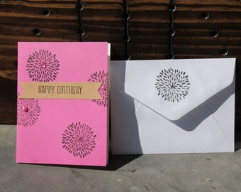 custom birthday cards with envelopes 12pk, colorful cards