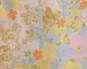 Floral Vintage Queen Flat Sheet