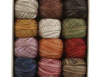 Valdani 3 strand floss collection - Vintage Hues - 12 balls - FREE SHIPPING