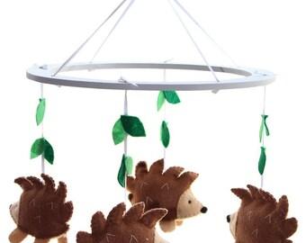 Hedgehog Mobile - Woodland Hedgehog Nursery Mobile