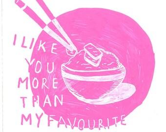 I like you more than A4 print