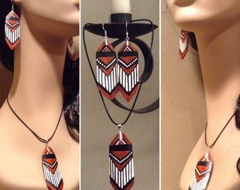 Native American gourd jewelry set