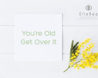 Funny Birthday Card / Rude Birthday Card / Humorous Birthday Card / Cheeky Birthday Card / Elle Bee