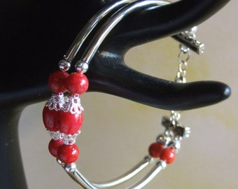 red coral bracelet 0095FB