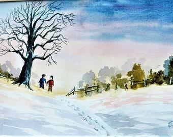 WALK In The SNOW  Cabin Fever , Winter Landscape Jim Decker