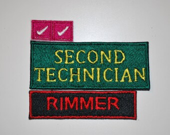 SET Red Dwarf Rimmer Costume Patches Fully Embroidered Sci-fi Cosplay