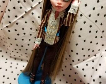 Monster High doll WIG; Custom OOAK Repaint
