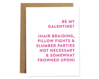 Galentine's Day Card, Galentine Card, Funny Valentine's Day Card, Valentine Card, Friendship Card, Card for Friend, Card for Girlfriend