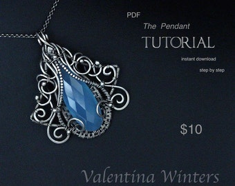 TUTORIAL - Pendant tutorial - Jewelry Tutorial  - Wire Jewelry Tutorial - Wrapping Tutorial - step by step - 3-D Layer jewelry Tutorial